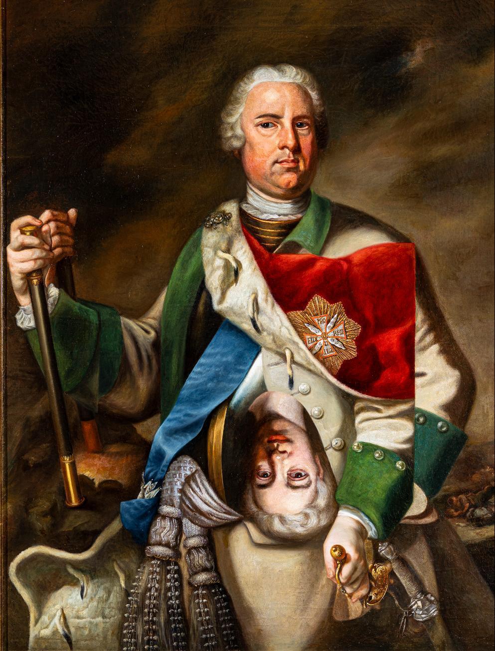 Porträt Fürst Günthers I. von Schwarzburg-Sondershausen (1678-1740)_Ausschnitt