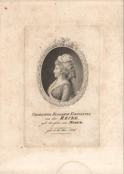 Charlotta Elisabeth Konstantia von der Recke (Porträt)