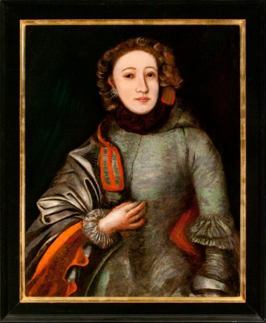 Porträt Friederike Henriette Christiane Jacobi (1749- nach 1807) geb. Bieglein-Kreussler