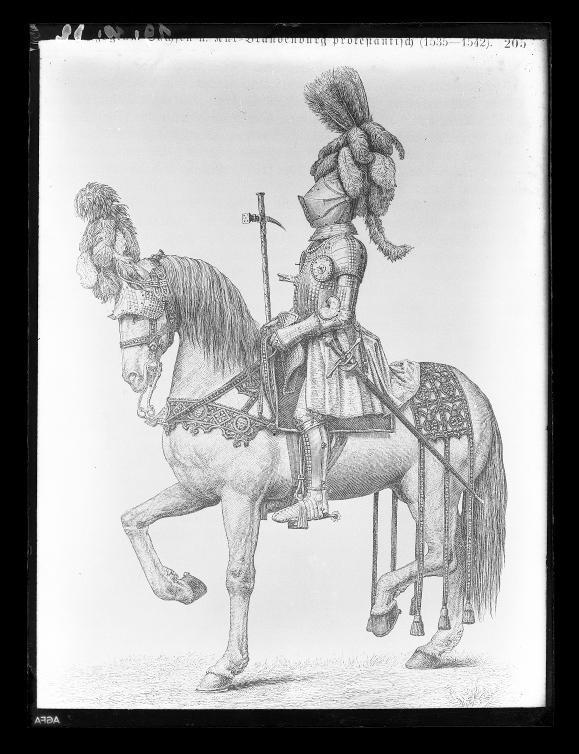 Fotokopie eines Ritterbildes