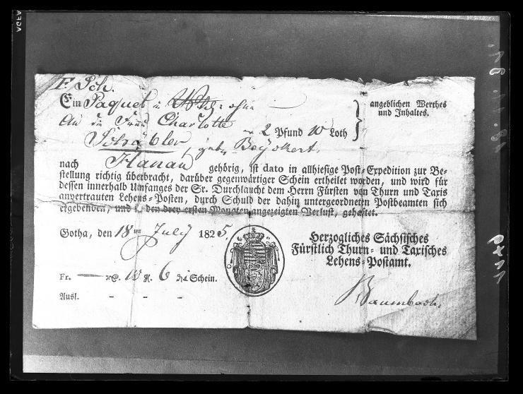Sächischer Postschein