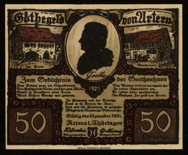 Notgeld - 50 Pfennig Artern