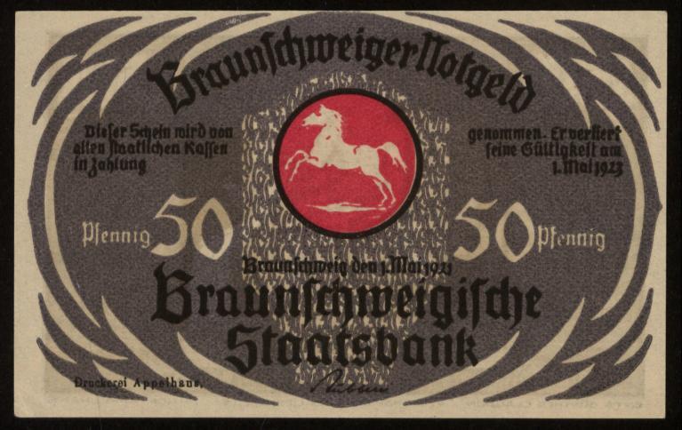 Notgeld - 50 Pfennig Braunschweig