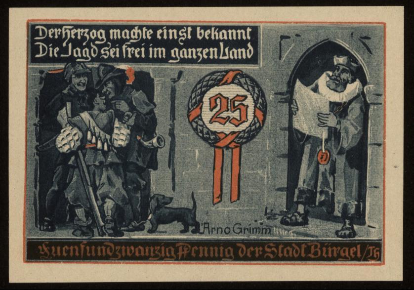 Notgeld - 25 Pfennig Bürgel