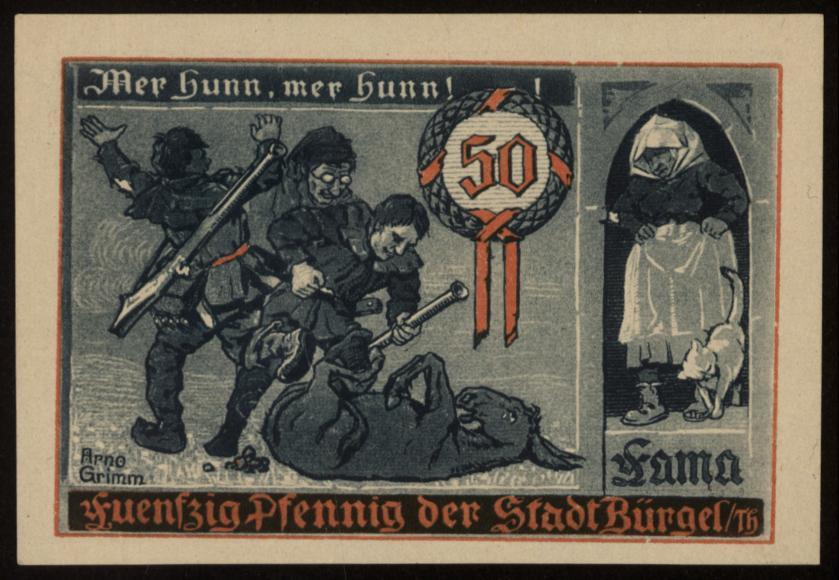 Notgeld - 50 Pfennig Bürgel
