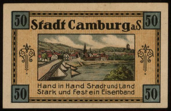 Notgeld - 50 Pfennig Camburg