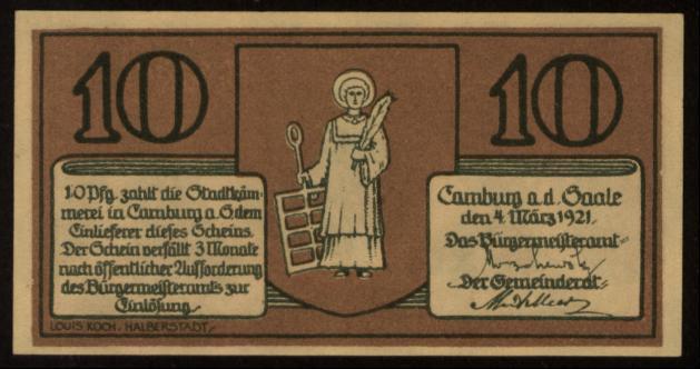 Notgeld - 10 Pfennig Camburg
