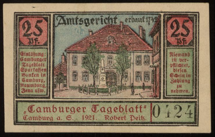 Notgeld - 25 Pfennig Camburg