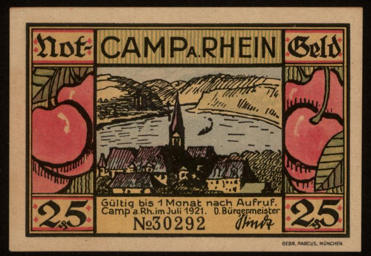 Notgeld - 25 Pfennig Camp