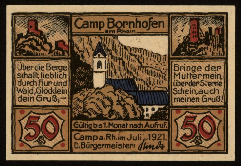Notgeld - 50 Pfennig Camp Bornhofen