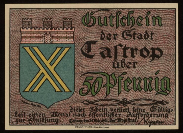 Notgeld - 50 Pfennig Castrop
