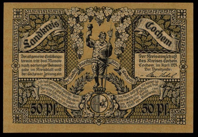 Notgeld - 50 Pfennig Cochem