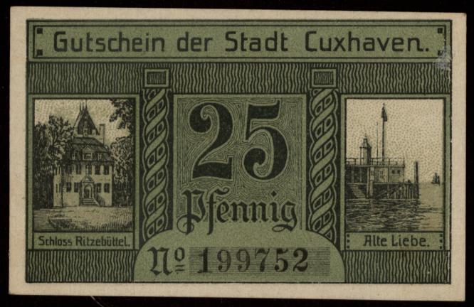 Notgeld - 25 Pfennig Cuxhaven