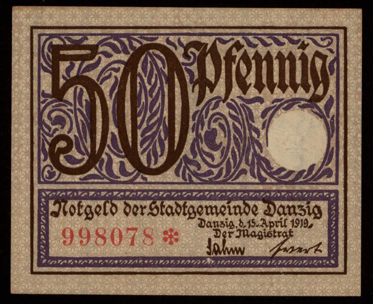 Notgeld - 50 Pfennig Danzig