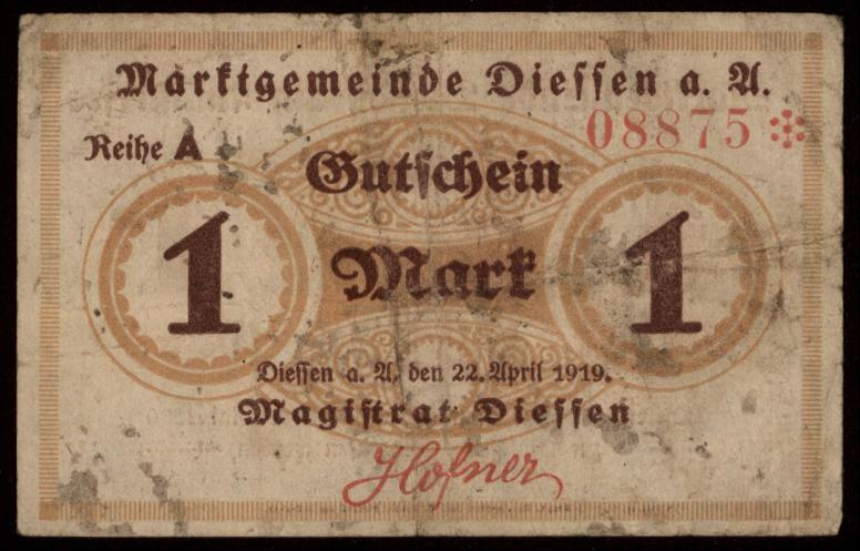 Notgeld - 1 Mark Diessen