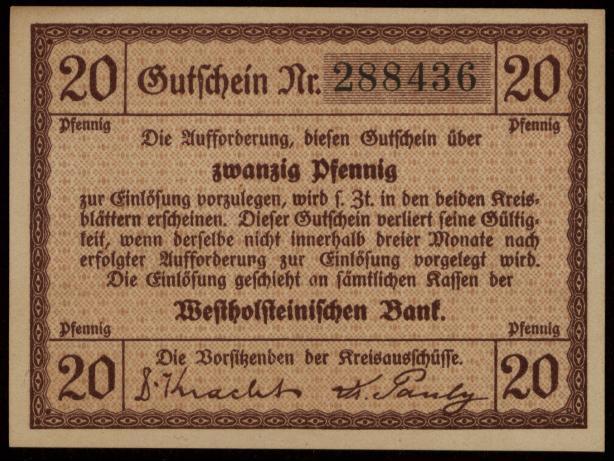 Notgeld - 20 Pfennig Dithmarschen