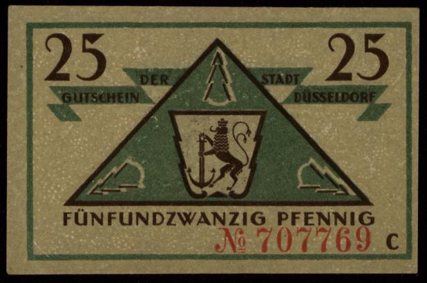 Notgeld - 25 Pfennig Düsseldorf