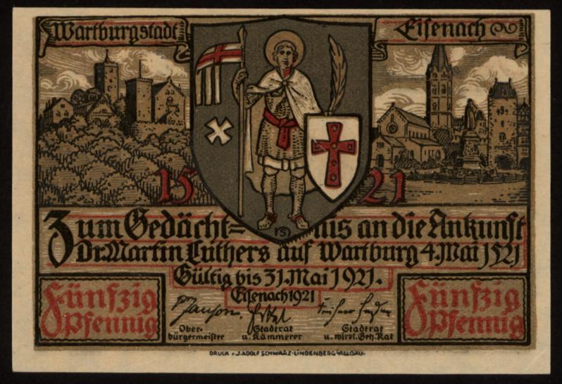 Notgeld - 50 Pfennig Eisenach