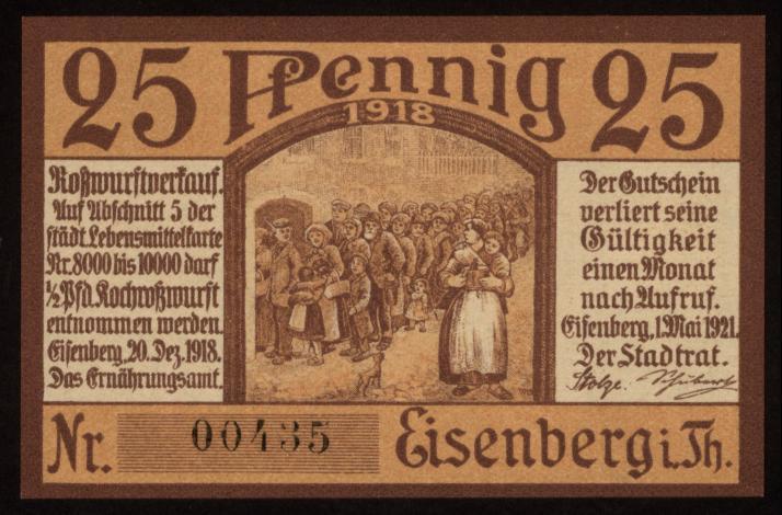 Notgeld - 25 Pfennig Eisenberg