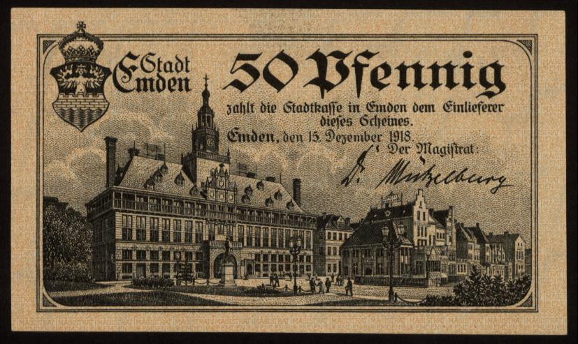 Notgeld - 50 Pfennig Emden