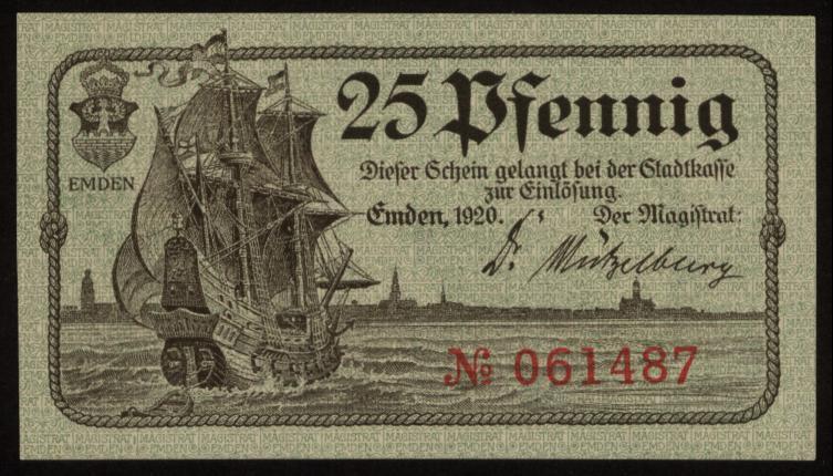 Notgeld - 25 Pfennig Emden