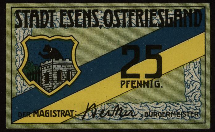 Notgeld - 25 Pfennig Esens