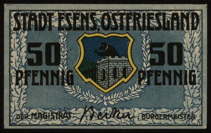Notgeld - 50 Pfennig Esens