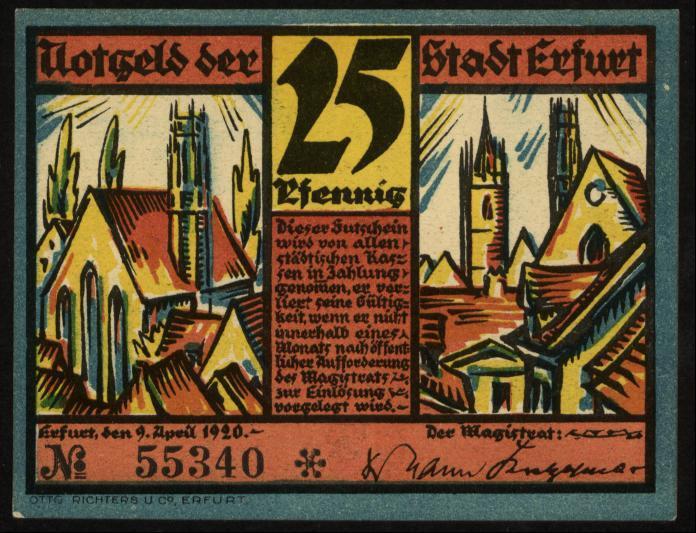 Notgeld - 25 Pfennig Erfurt