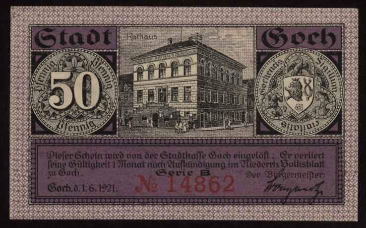 Notgeld - 50 Pfennig Goch