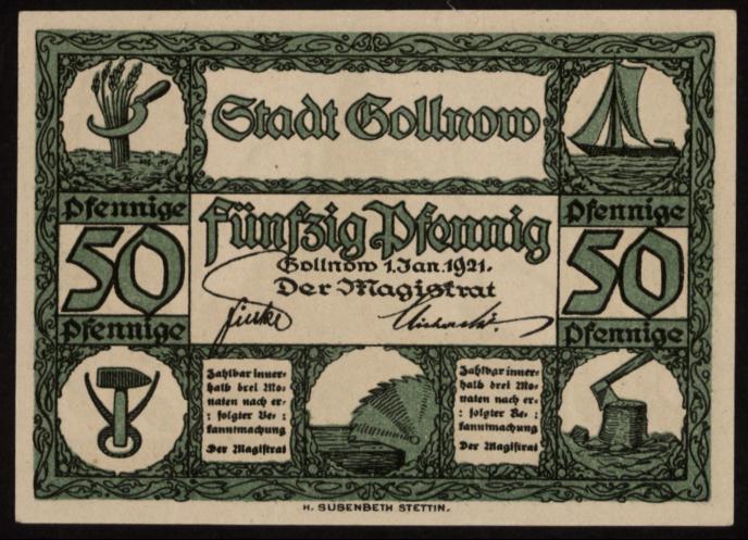 Notgeld - 50 Pfennig Gollnow