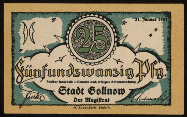 Notgeld - 25 Pfennig Gollnow