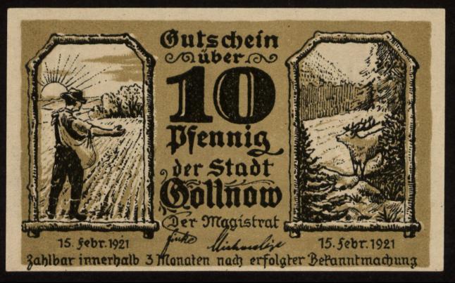 Notgeld - 10 Pfennig Gollnow