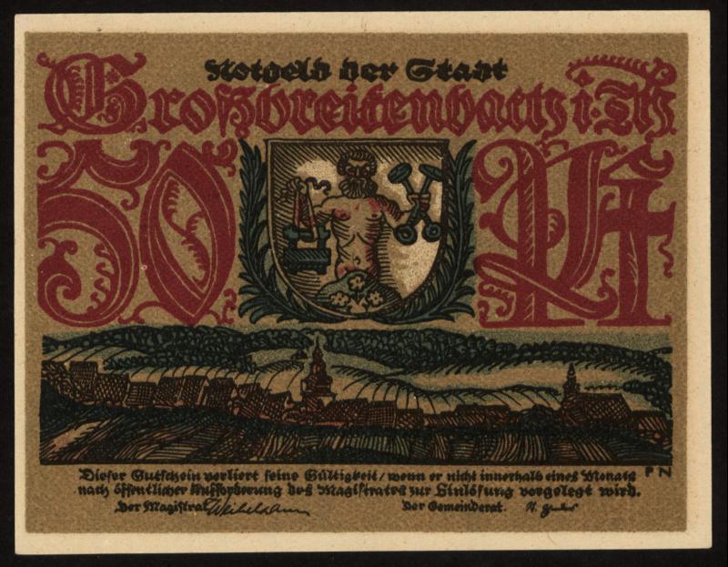 Notgeld - 50 Pfennig Großbreitenbach
