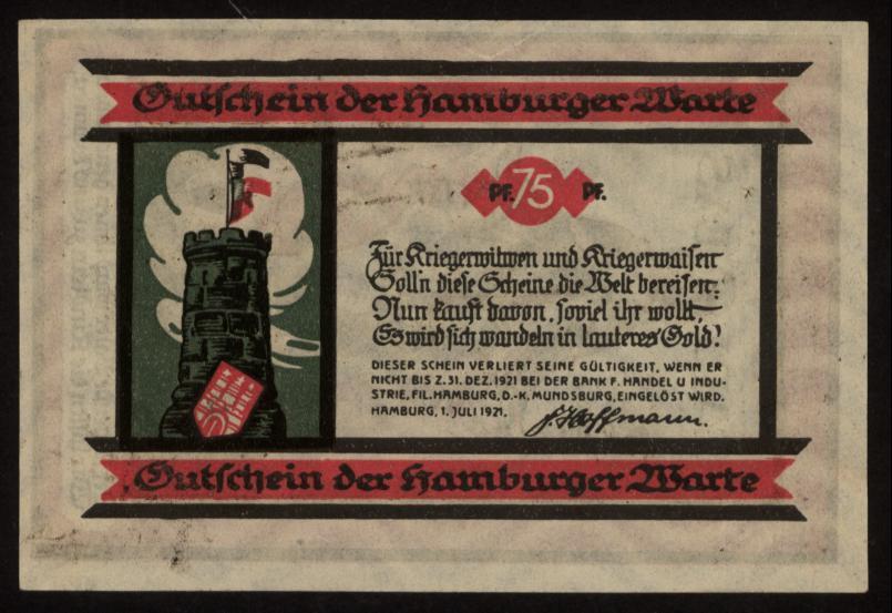 Notgeld - 75 Pfennig Hamburg