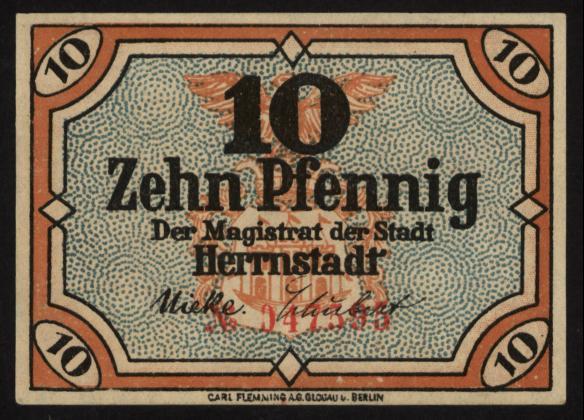 Notgeld - 10 Pfennig Herrnstadt