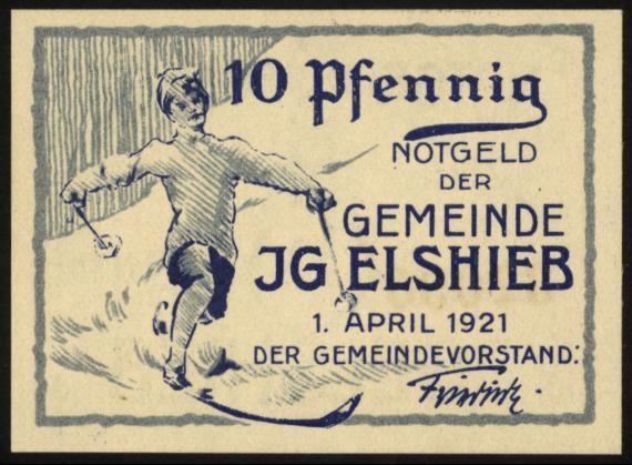 Notgeld - 10 Pfennig Jgelshieb