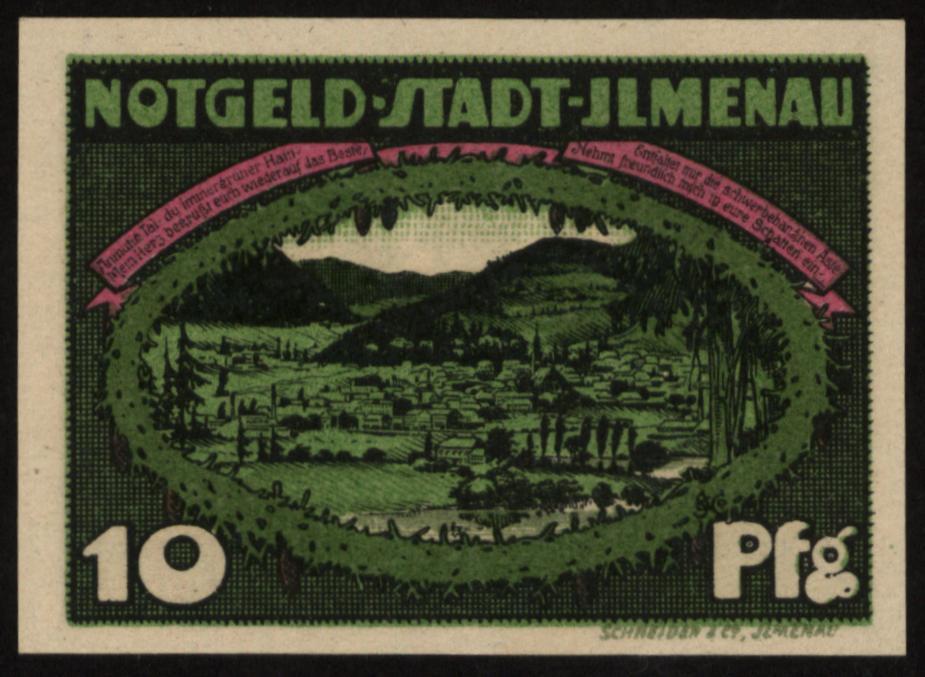 Notgeld - 10 Pfennig Ilmenau