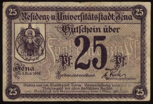 Notgeld - 25 Pfennig Jena