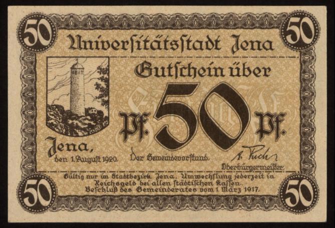 Notgeld - 50 Pfennig Jena