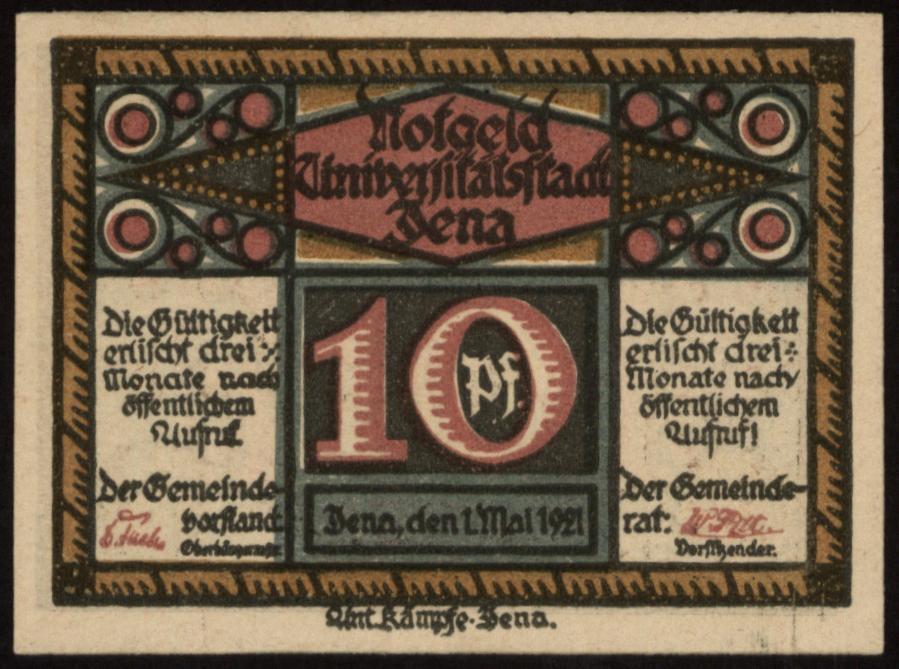 Notgeld - 10 Pfennig Jena