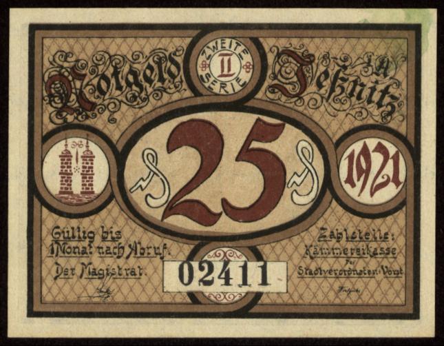 Notgeld - 25 Pfennig Jeßnitz