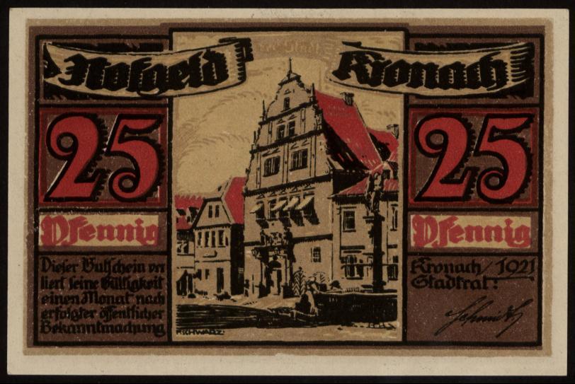 Notgeld - 25 Pfennig Kronach
