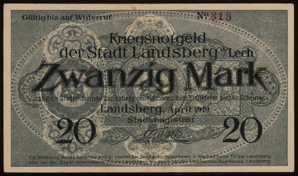 Notgeld - 20 Mark Landsberg