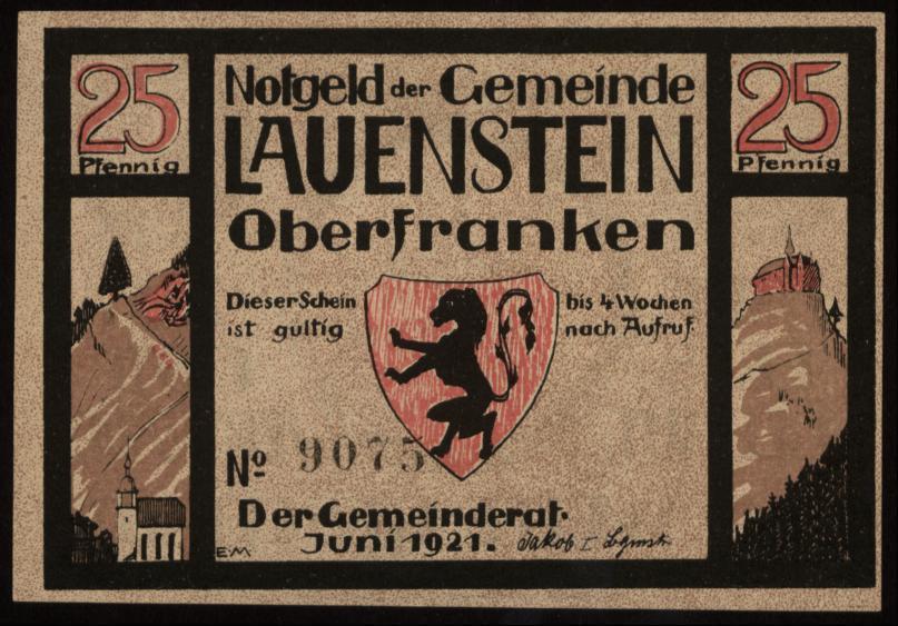 Notgeld - 25 Pfennig Lauenstein