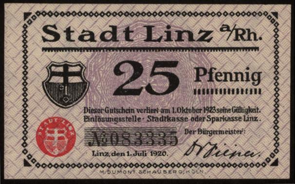 Notgeld Stadt Linz
