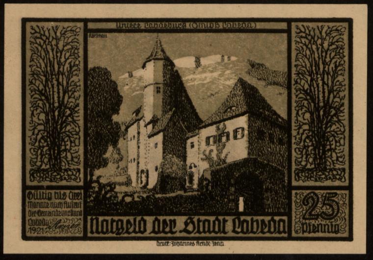 Notgeld - 25 Pfennig Lobeda