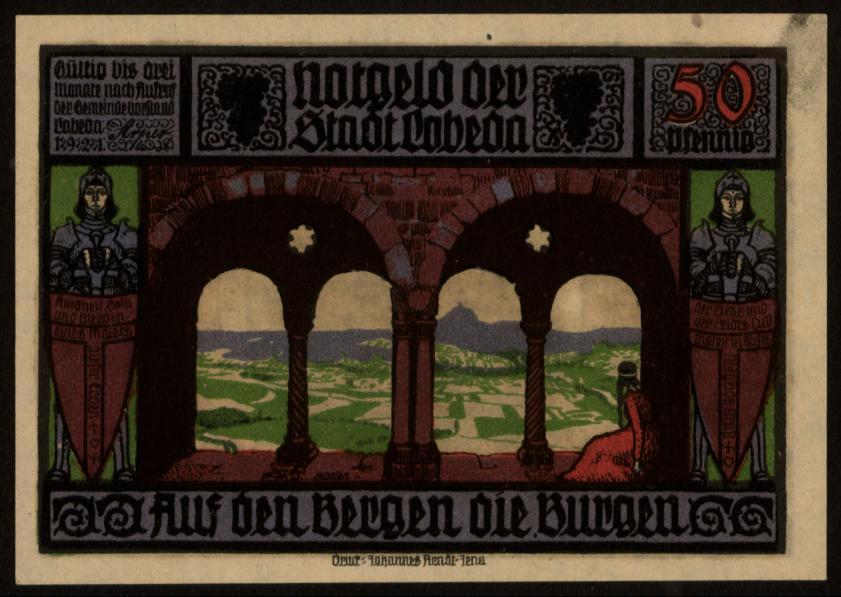 Notgeld - 50 Pfennig Lobeda