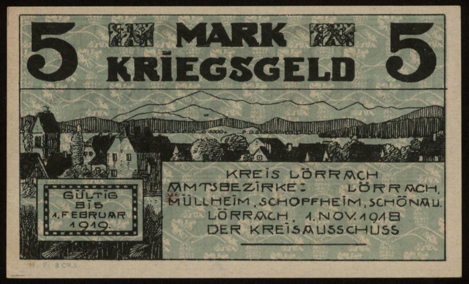 Notgeld - 5 Mark Lörrach