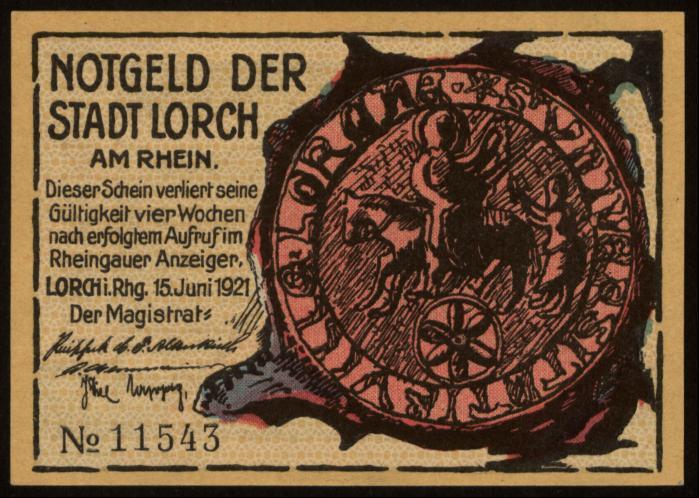 Notgeld - 25 Pfennig Lorch