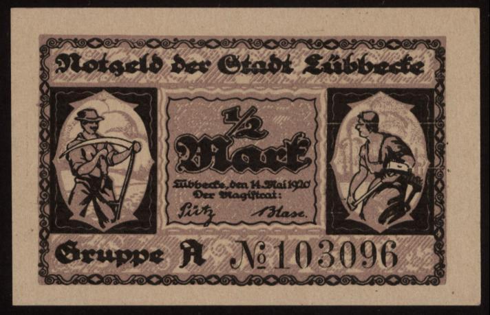 Notgeld - 50 Pfennig Lübbecke